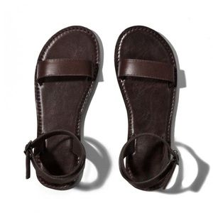 Abercrombie Brown Ankle Wrap Sandals
